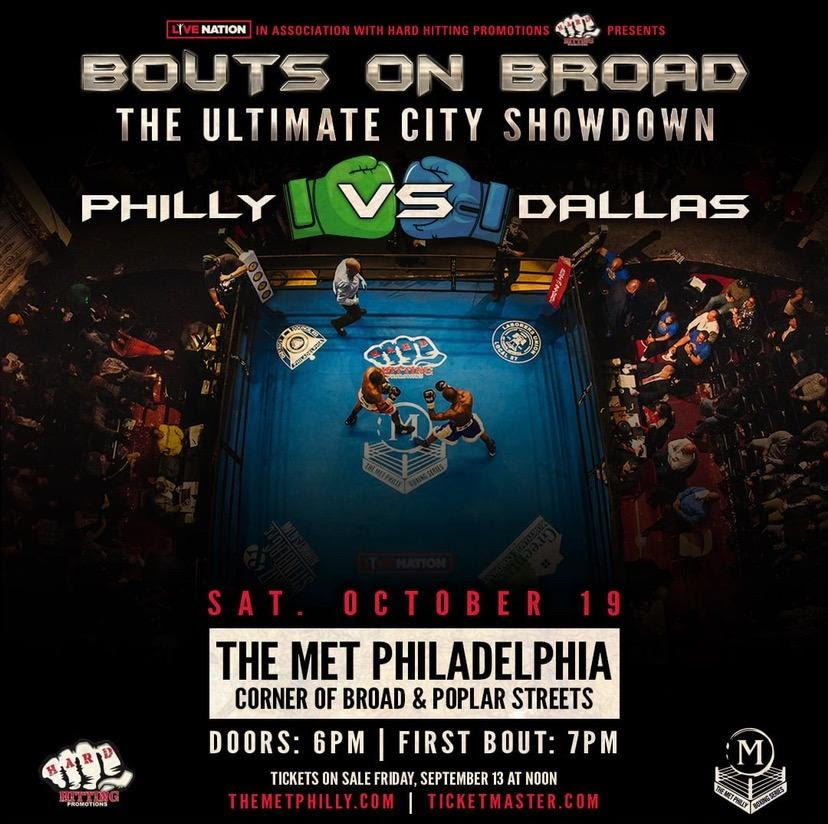 Darmani Rock, Maurenzo Smith - Hostilities between Philadelphia has been prominent for years on the gridiron and more recently in the Hockey rink, and on Saturday night, October 19th add boxing to the rivalry as Undefeated Heavyweight Darmani Rock will headline in an eight-round bout against Maurenzo Smith the 3rd installment of The Met Boxing Series on at The Met Philadelphia.
