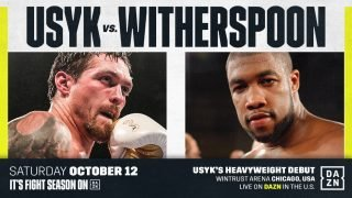 Oleksandr Usyk - Oleksandr Usyk will be making his heavyweight debut this Saturday night against Chazz Witherspoon (38-3, 29 KOs) on DAZN at the Wintrust Arena in Chicago. After six years as a professional, and unifying the cruiserweight division, Usyk (16-0, 12 KOs) is moving up to heavyweight in search of bigger paydays.