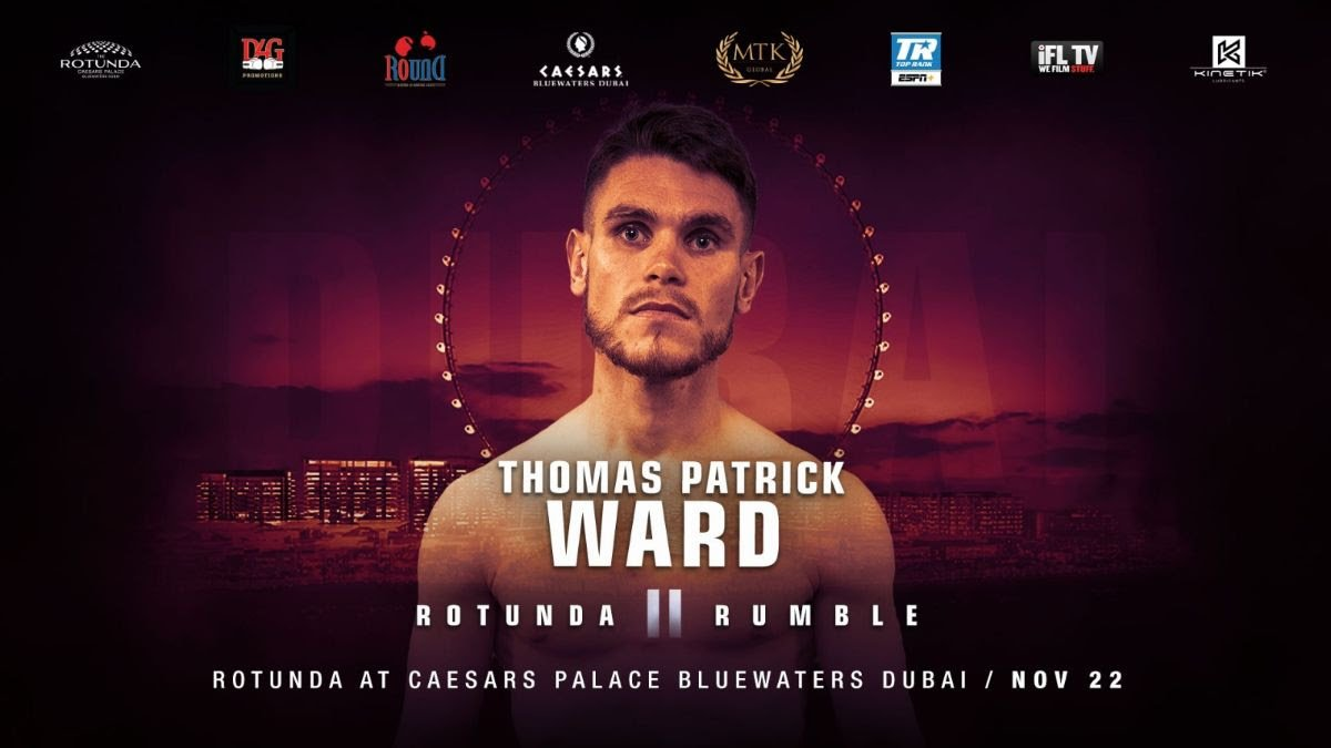 Thomas Patrick Ward - WBO world No. 4 Thomas Patrick Ward will star on #RotundaRumble2 on November 22.
