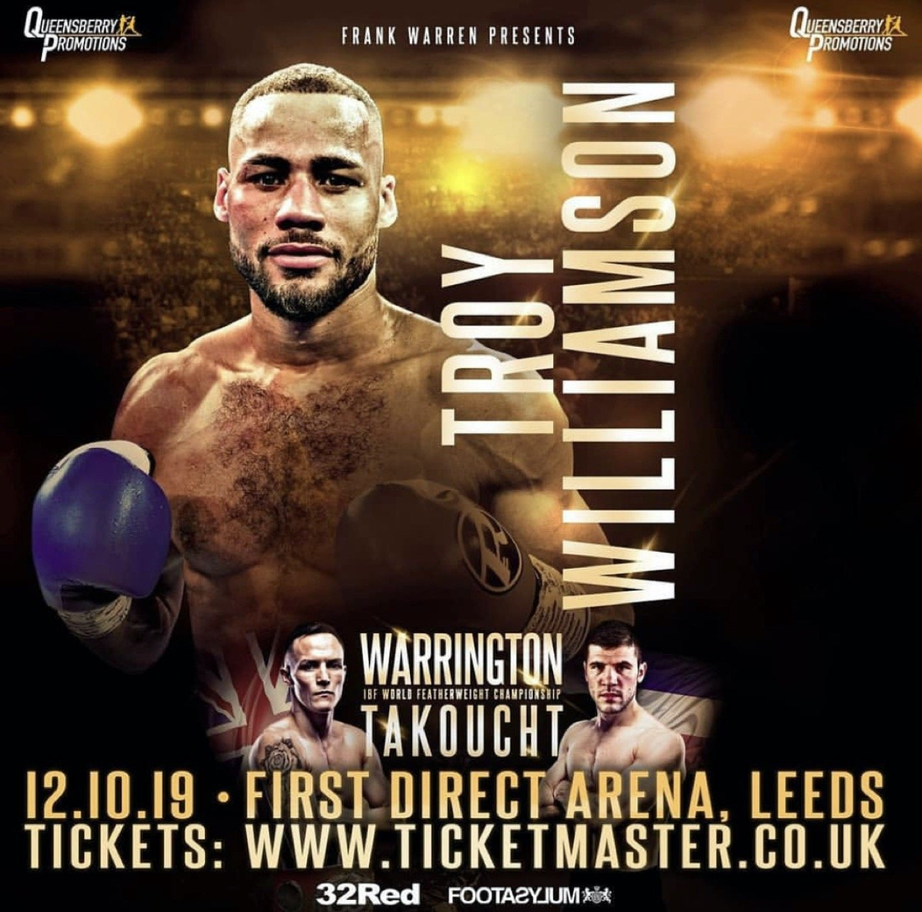 Troy Williamson - TROY WILLIAMSON insists that winning his first professional title this weekend is the springboard to future super-fights.