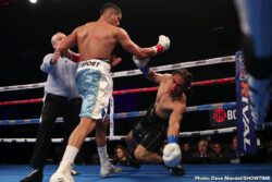 Alberto Palmetta, Erik Vega - 2016 Argentinian Olympian and welterweight prospect Alberto Palmetta put a late exclamation point on an impressive display, scoring a final-round TKO of undefeated Mexican prospect Erik Vega in the main event of ShoBox: The New Generation Friday night from WinnaVegas Casino in Sloan, Iowa.