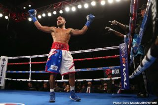 Erik Vega - 2016 Argentinian Olympian and welterweight prospect Alberto Palmetta put a late exclamation point on an impressive display, scoring a final-round TKO of undefeated Mexican prospect Erik Vega in the main event of ShoBox: The New Generation Friday night from WinnaVegas Casino in Sloan, Iowa.