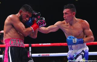"""Rene Alvarado - Rene """"Gemelo"""" Alvarado (32-8, 20 KOs) of Managua, Nicaragua successfully defeated Andrew """"El Chango"""" Cancio (21-5-2, 16 KOs) of Blythe, California via knockout at the end of the seventh round of a 12-round rematch for the WBA Super Featherweight World Title. The fight was stopped after the referee deemed Cancio's cut to be too severe to continue. The event took place on Saturday, Nov. 23, 2019 at Fantasy Springs Resort Casino in Indio, Calif. and was streamed live DAZN."""