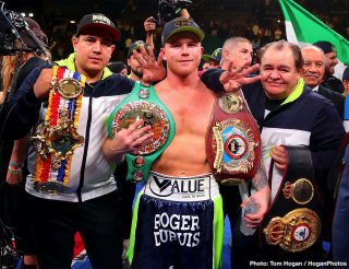 Matchroom Boxing - Oscar De La Hoya has given Matchroom Sport and their super middleweight champions Billy Joe Saunders and Callum Smith a deadline of Monday to agree to the deal offered to them for a May 2 fight against Canelo Alvarez or else he's moving on.