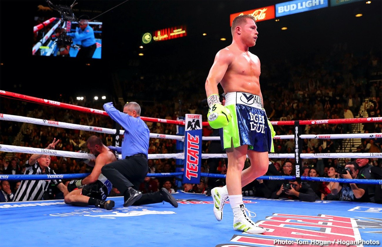 Billy Joe Saunders, Canelo Alvarez - Billy Joe Saunders will be fighting Saul Canelo Alvarez on May 2 at 168 lbs in Las Vegas, Nevada. The fight was agreed on today, and it'll shown on DAZN from the T-Mobile Arena in Las Vegas, Nevada. Canelo (53-1-2, 35 KOs) will have WBA 'regular' super-middleweight title on the line in facing WBO champion Saunders (29-0, 14 KOs).