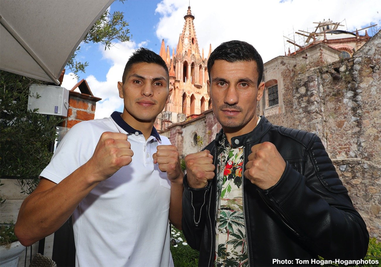 """Pablo Cesar Cano - Pablo Cesar """"El Demoledor"""" Cano (32-7-1, 22 KOs) and Roberto """"Massa"""" Ortiz (35-4-2, 26 KOs) hosted their final press conference today at Quince Restaurante Bar in Guanajuato, Mexico ahead of their 10-round fight for Cano's WBC International Silver Super Lightweight Title. The action takes place this Saturday, Nov. 16 on the latest edition of Golden Boy Fight Night on Facebook Watch at The Plaza De Toros San Miguel De Allende in Guanajuato, Mexico. The fights will be streamed globally on Facebook Watch via the Golden Boy Fight Night Page."""