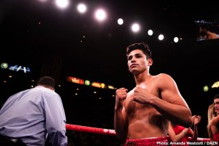Mikey Garcia - Mikey Garcia is picking Golden Boy star Ryan 'Kingry' Garcia (20-0, 17 KOs) to knock out #2 WBC Luke Campbell this year they meet up for the interim WBC lightweight title.