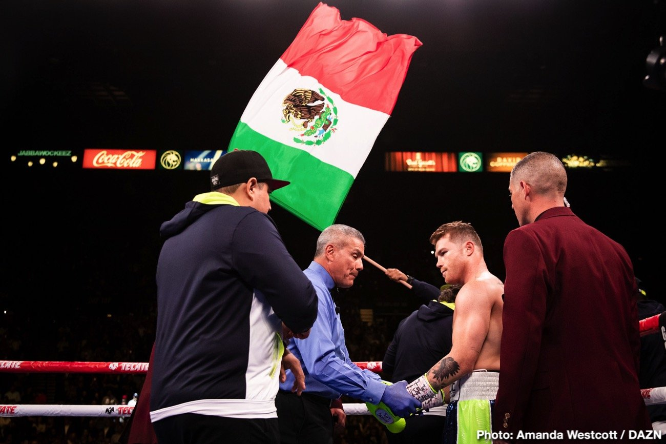 Canelo Alvarez - Canelo Alvarez reacted in a negative way on Thursday night in responding to the media revealing that he'll be fighting Billy Joe Saunders next on May 2 at the T-Mobile Arena in Las Vegas, Nevada. The Mexican star posted on social media in Spanish that he will be the one that announces his next fight.