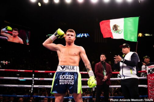 Blair Cobbs, Canelo Alvarez, DAZN, Romero Duno, Ryan Garcia, Sergey Kovalev - With a devastating knockout in Round 11, pound-for-pound boxing superstar Canelo Alvarez (53-1-2, 36 KOs) defeated Sergey Kovalev (34-4-1, 29 KOs) to become the new WBO Light Heavyweight Titlist. With this victory, Canelo once again makes history by becoming a four-division world champion and only the second Mexican fighter ever to capture the 175 pound title.