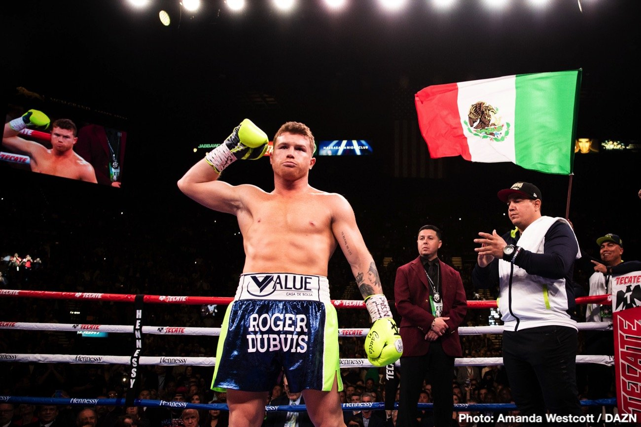 Canelo Alvarez, Eric Gomez - Golden Boy Promotions president Eric Gomez says Canelo Alvarez is interested in fighting in the U.K. so that he can win over a lot of new fans in that part of the world. He's interested in facing Callum Smith, Billy Joe Saunders and John Ryder for him to achieve his brand in England.