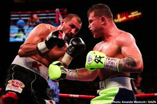 """Sergey Kovalev - Going into last night's risky gamble of a fight with light-heavyweight belt-holder Sergey Kovalev, Mexican superstar Canelo Alvarez claimed he was the best pound-for-pound fighter in the sport; ahead of guys like Vasyl Lomachenko, adding that he has """"done more."""" Now, in light of his quite spectacular 11th round KO of Kovalev, more than a few fans will be inclined to agree with the flame-haired warrior."""