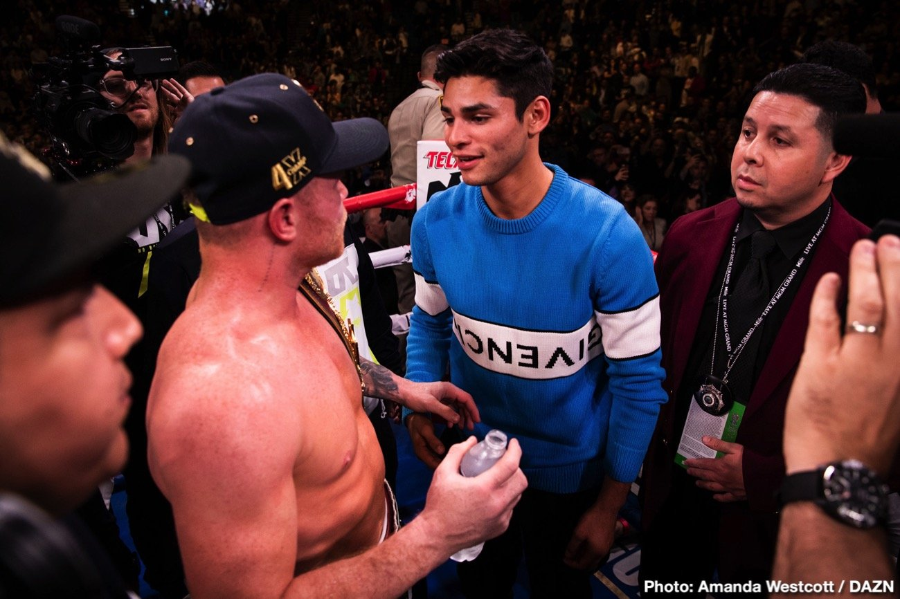 Francisco Fonseca, Ryan Garcia - Golden Boy and DAZN will present a special night of boxing on Valentine's Day as rising star Ryan Garcia (19-0, 16 KOs) defends his WBC Silver Lightweight Title in a 12-round fight against rugged contender Francisco Fonseca (25-2-2, 19. KOs). The event takes place Friday, Feb. 14 at Honda Center in Anaheim, Calif. and will be streamed live exclusively on DAZN.