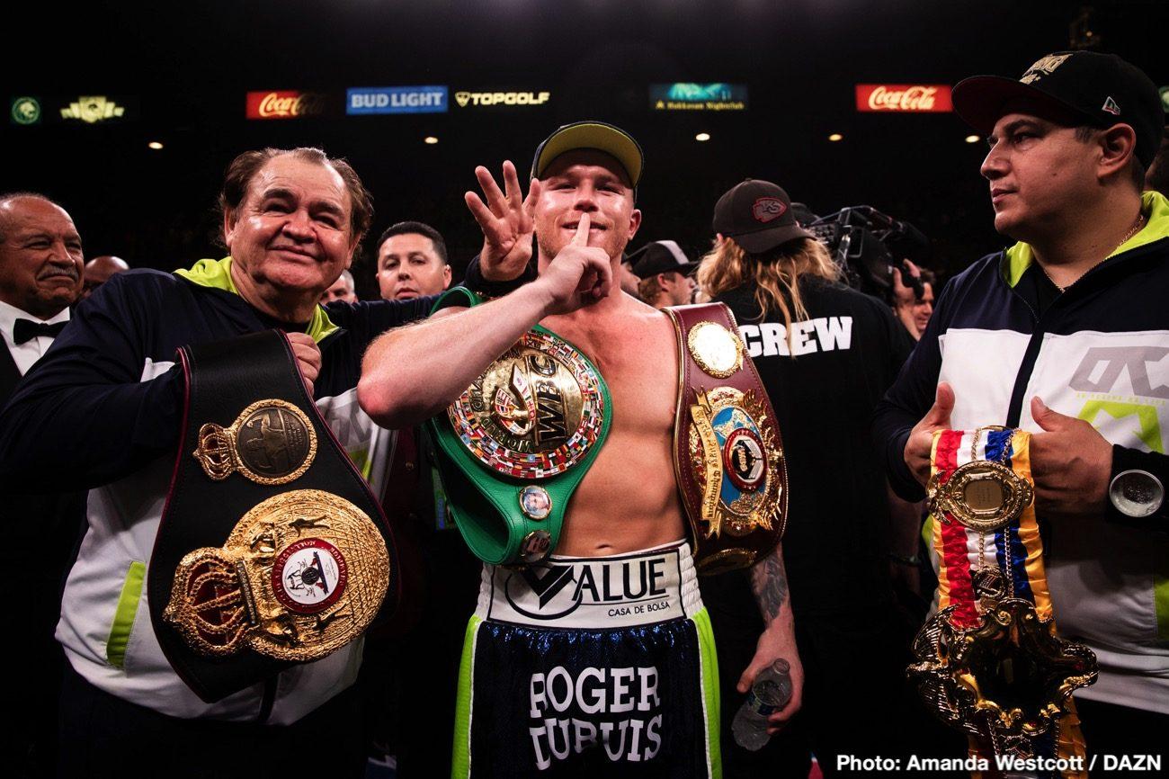 """Oscar De La Hoya Saul """"Canelo"""" Alvarez Sergey Kovalev Boxing News Boxing Results"""