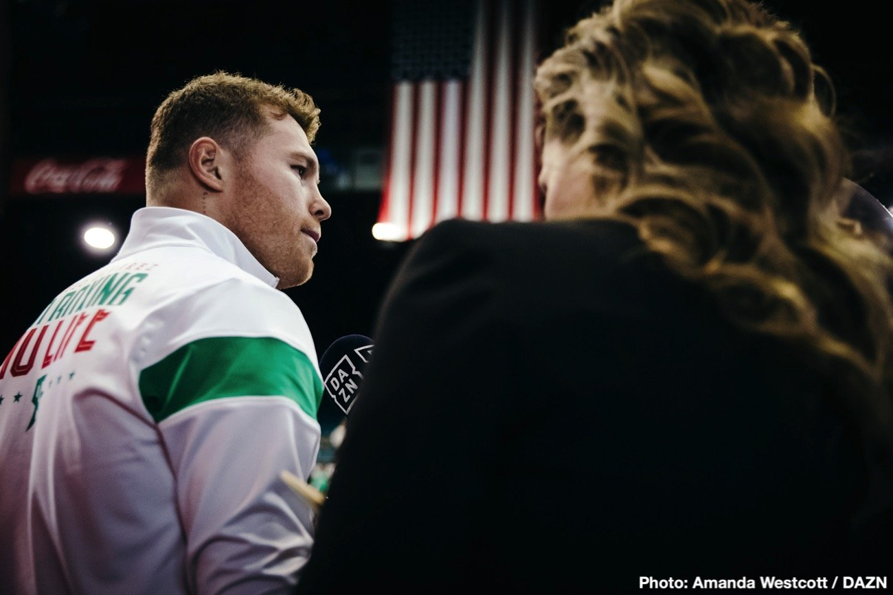 Canelo Alvarez - Billy Joe Saunders won't beat Canelo Alvarez when they face each other on May 2, according to Top Rank promoter Bob Arum. While Arum respects the talent and technical ability of WBO super middleweight champion Saunders (29-0, 14 KOs), he doesn't view him as a threat to defeating Canelo Alvarez (53-1-2, 36 KOs, and nor does he see anyone else at 168 defeating him either.