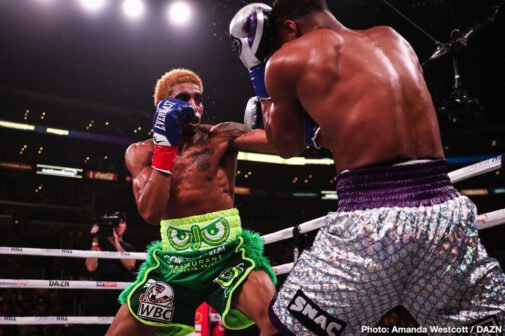 Billy Joe Saunders, Devin Haney - Lightweight world champion Devin Haney (24-0, 15 KOs) defended his belt with a dominating performance over Alfredo Santiago (12-1, 4 KOs) in a 12-round bout, and Billy Joe Saunders (29-0, 14 KOs) earned a stoppage victory over Marcelo Coceres (28-1-1, 15 KOs) in a tough battle during his United States debut.