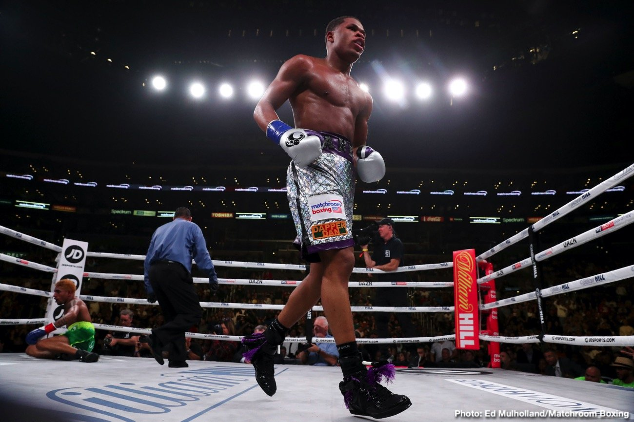 Billy Joe Saunders - Lightweight world champion Devin Haney (24-0, 15 KOs) defended his belt with a dominating performance over Alfredo Santiago (12-1, 4 KOs) in a 12-round bout, and Billy Joe Saunders (29-0, 14 KOs) earned a stoppage victory over Marcelo Coceres (28-1-1, 15 KOs) in a tough battle during his United States debut.