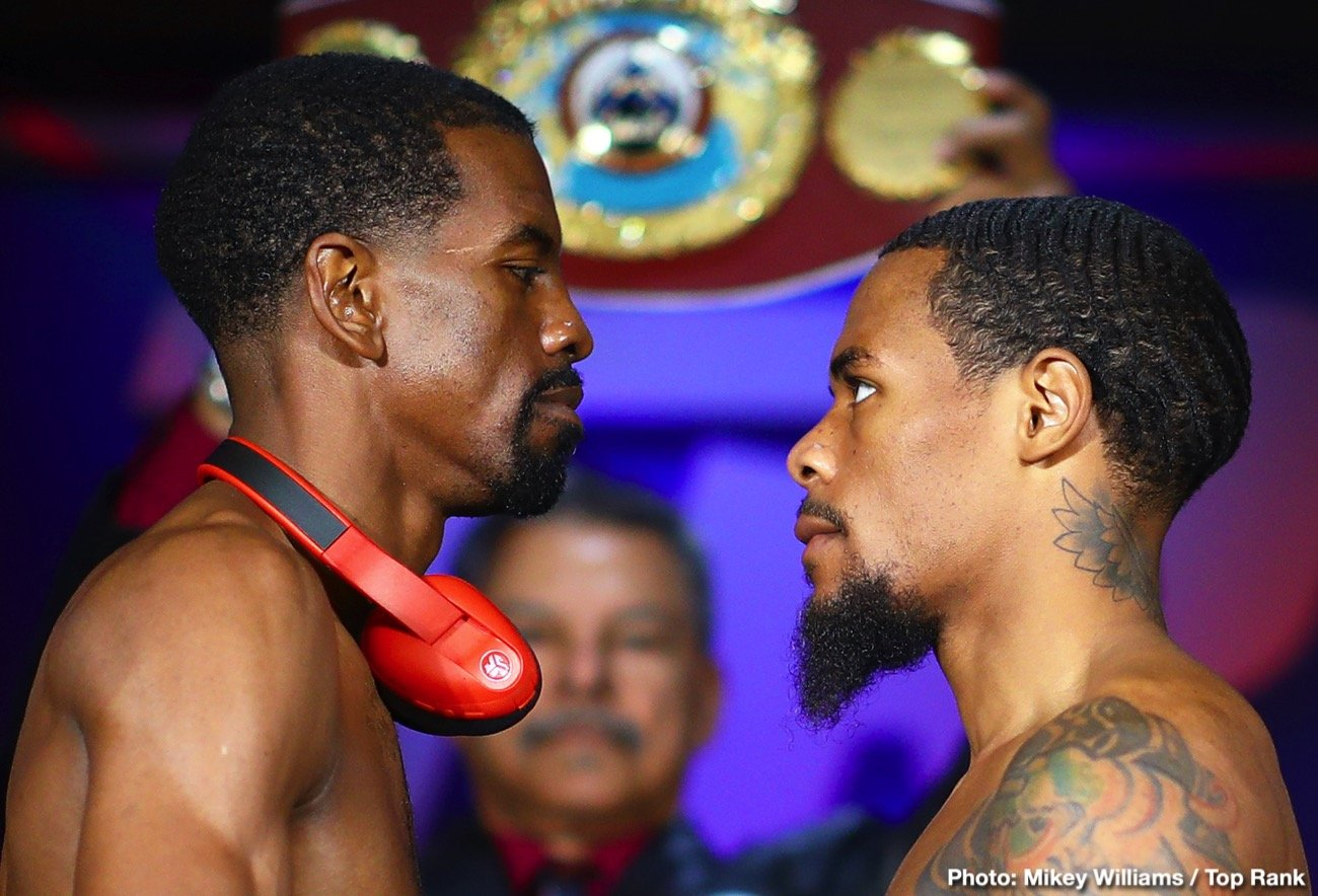 Jamel Herring, Lamont Roach - This Saturday night live on ESPN+, super featherweight title holder Jamel Herring defends his WBO belt against Lamont Roach Jr. The event takes place in Fresno, California timed perfectly for Herring, a former Marine, on Veterans Day weekend. On paper and at the betting windows this matchup is even and will likely be decided in the 2nd half of the fight.