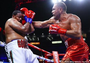 """Jamel Herring, Kubrat Pulev, Lamont Roach - Jamel """"Semper Fi"""" Herring, a U.S. Marine Corps veteran, retained his WBO junior lightweight world title with a Veterans Day Weekend unanimous decision (115-113 and 117-111 2X) win over top contender Lamont Roach Jr. in front of 7,412 fans at Chukchansi Park."""