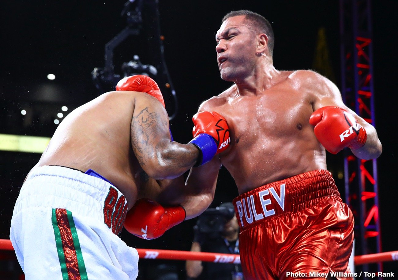 "Anthony Joshua - Kubrat Pulev is convinced WBA/IBF/WBO heavyweight champ Anthony Joshua is afraid of him. The Bulgarian who is awaiting his IBF mandatory shot at AJ has said this several times, and now, in speaking with Sky Sports, Pulev's manager, Ivaylo Gotsev, says he agrees with his fighter. The fear Joshua has of ""The Cobra"" is the reason it is taking so long for the fight to get done, Gotsev says."