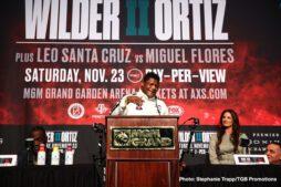 Deontay Wilder, Leo Santa Cruz, Luis Ortiz, Miguel Flores - Boxing News