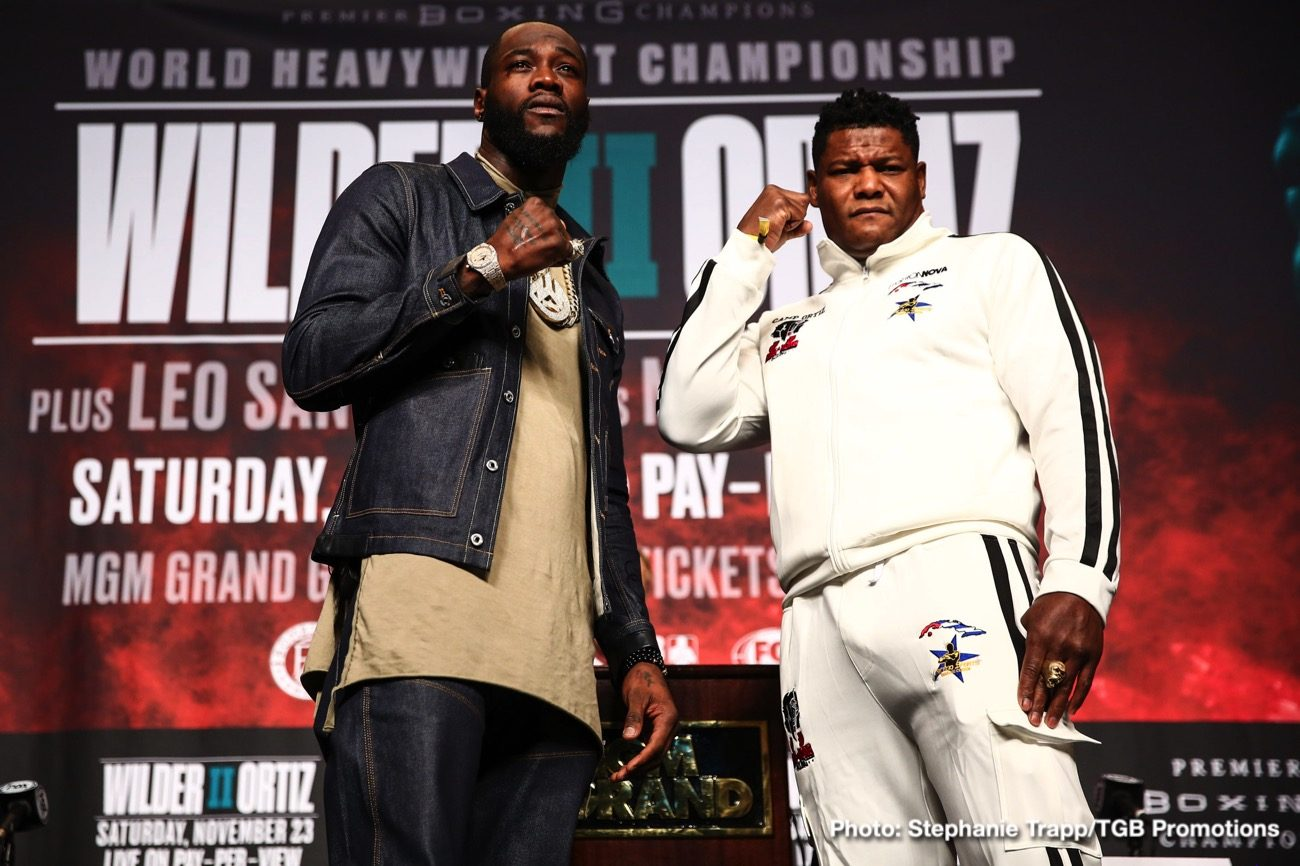 Deontay Wilder Fox Sports Pay-Per-View Luis Ortiz Press Room