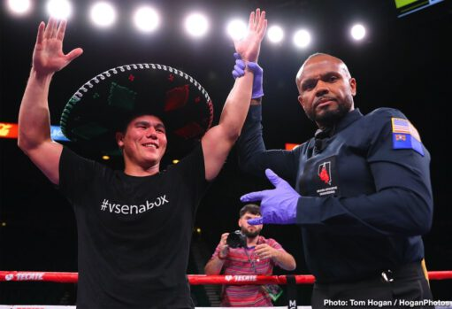 """Canelo Alvarez, Ryan Garcia, Saul """"Canelo"""" Alvarez, Sergey Kovalev - Canelo Alvarez KO 11 Sergey Kovalev: Saul Canelo Alvarez (53-1-2, 36 KOs) scored an 11th round knockout victory over Sergey Kovalev (34-4-1, 29 KOs) to capture his WBO light heavyweight title on Saturday night at the MGM Grand in Las Vegas, Nevada. Canelo hurt Kovalev with a left and then took him out with a chopping right hand that sent him down on the canvas. The bout was stopped on the spot by the referee Russell Mora. The fight was stopped at 2:15 of round 11."""