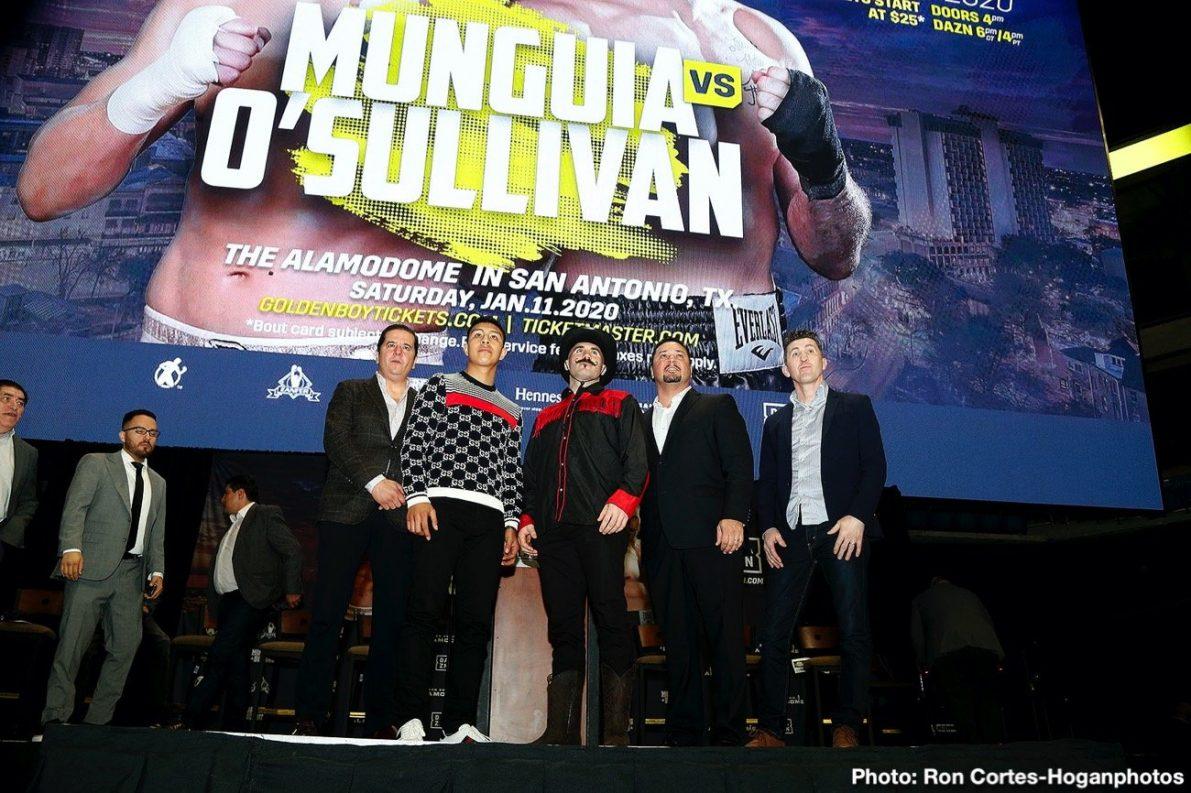 Gary O'Sullivan Jaime Munguia Boxing News