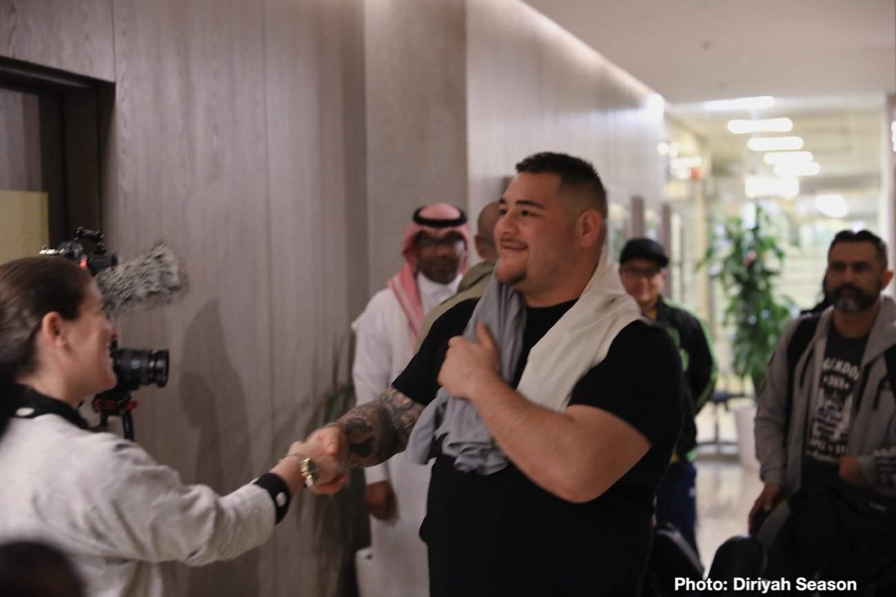 "Andy Ruiz, Anthony Joshua - Heavyweight World Champion Andy Ruiz Jr has vowed to ""make history again"" as he landed in Saudi Arabia for the Clash On The Dunes, bringing his IBF, WBA, WBO and IBO title belts with him."