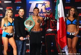 Top Rank Boxing - We have never seen the sublime Vasyl Lomachenko dragged into a FIGHT, a rough and tough affair – a dogfight. Maybe no-one at or around 135 pounds is capable of doing it, but maybe Mexican warrior Miguel Berchelt is the man for the job. And he wants to find out. Tonight, in the 'other fight' that is taking place (second, in terms of fan interest/hype and big money to Kovalev-Canelo), Berchelt, 36-1(32) defends his WBC 130 pound title against Jason Sosa.