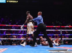 Deontay Wilder, Luis Ortiz - Deontay Wilder did it again last night, as he had promised: he gave us another highlight-reel KO, this one of the one-punch variety (there was no windmilling on display this time). But Wilder had to do something else once again: overcome a points deficit to hang onto his treasured WBC heavyweight crown. And it was his withering power that allowed him to do so..