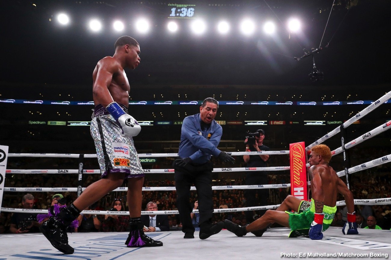 Devin Haney - 21-year-old Devin Haney sure is thinking big, perhaps bigger than any other fighter this side of Floyd Mayweather. From a financial standpoint at least. Haney, who will face veteran, could've-should've-would've-been-a-superstar, former champion Yuriorkis Gamboa a week today, has said he has set himself the lofty goal of becoming boxing's first billionaire fighter.