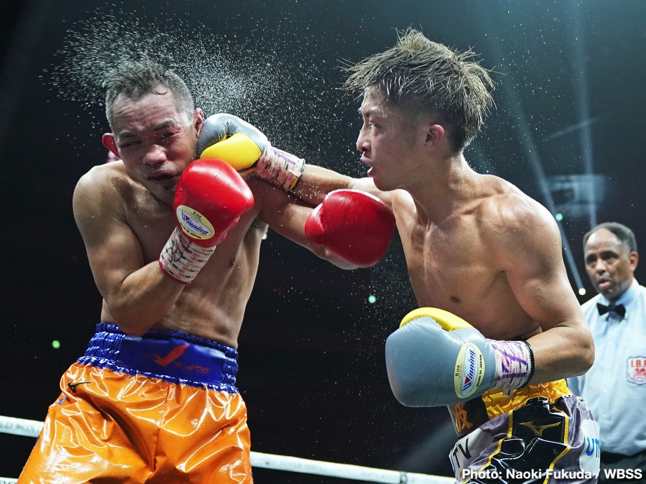 Naoya Inoue, Nonito Donaire, Nordine Oubaali, Takuma Inoue - WBA bantamweight champion Nonito Donaire (40-5, 26 KOs) gave IBF/WBA champ Naoya Inoue (19-0, 16 KOs) the fight of his life in losing to him by an exciting 12 round unanimous decision in the WBSS final on Thursday at the Super Arena in Saitama, Japan. Inoue was cut over his right eye in the 2nd, and suffered a bloody nose in the third.
