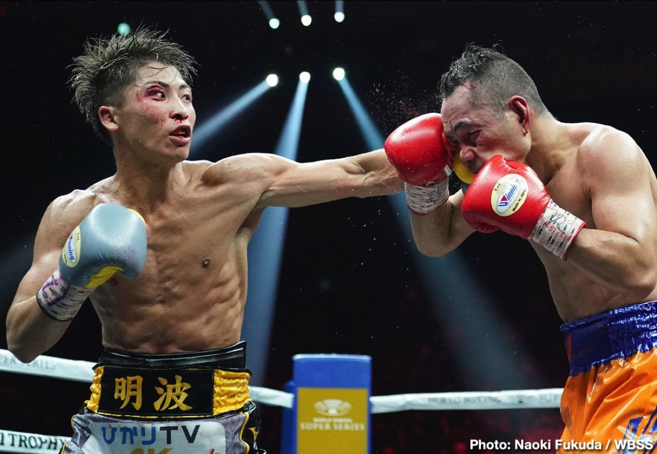 Naoya Inoue, Nonito Donaire - Naoya Inoue overcame the heroic Nonito Donaire to claim a points victory to win the Ali Trophy in the bantamweight edition of the World Boxing Super Series in Saitama, Japan.