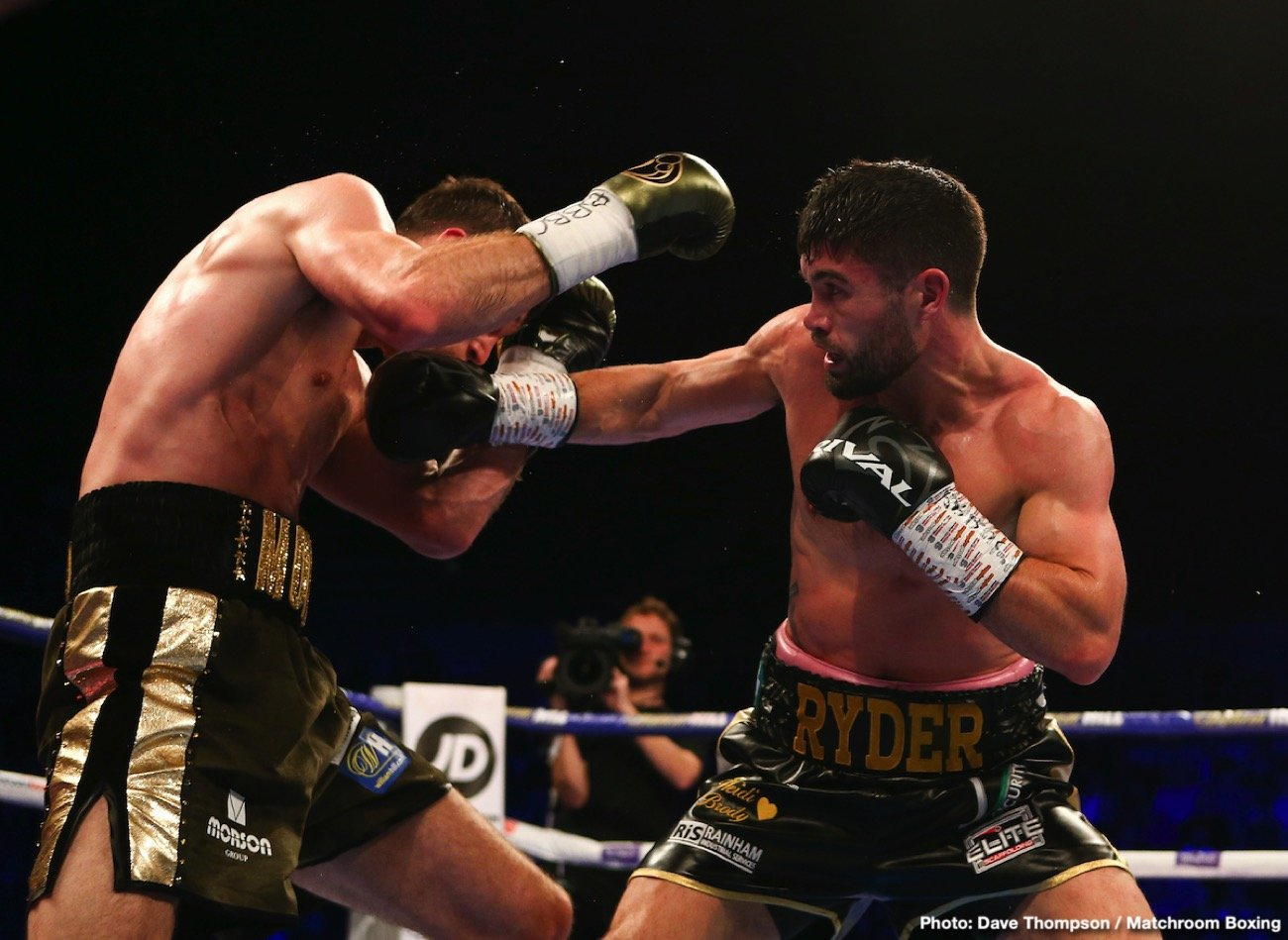 John Ryder - In a poor performance, WBA Super World super middleweight champion Callum Smith (27-0, 19 KOs) labored hard to win a 12 round unanimous decision over John 'Gorilla' Ryder (28-5, 16 KOs) on Saturday night at the M&S Bank Arena in Liverpool.