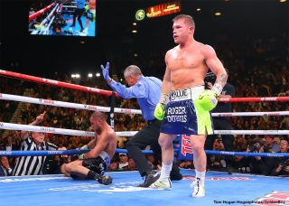 Romero Duno - With a devastating knockout in Round 11, pound-for-pound boxing superstar Canelo Alvarez (53-1-2, 36 KOs) defeated Sergey Kovalev (34-4-1, 29 KOs) to become the new WBO Light Heavyweight Titlist. With this victory, Canelo once again makes history by becoming a four-division world champion and only the second Mexican fighter ever to capture the 175 pound title.