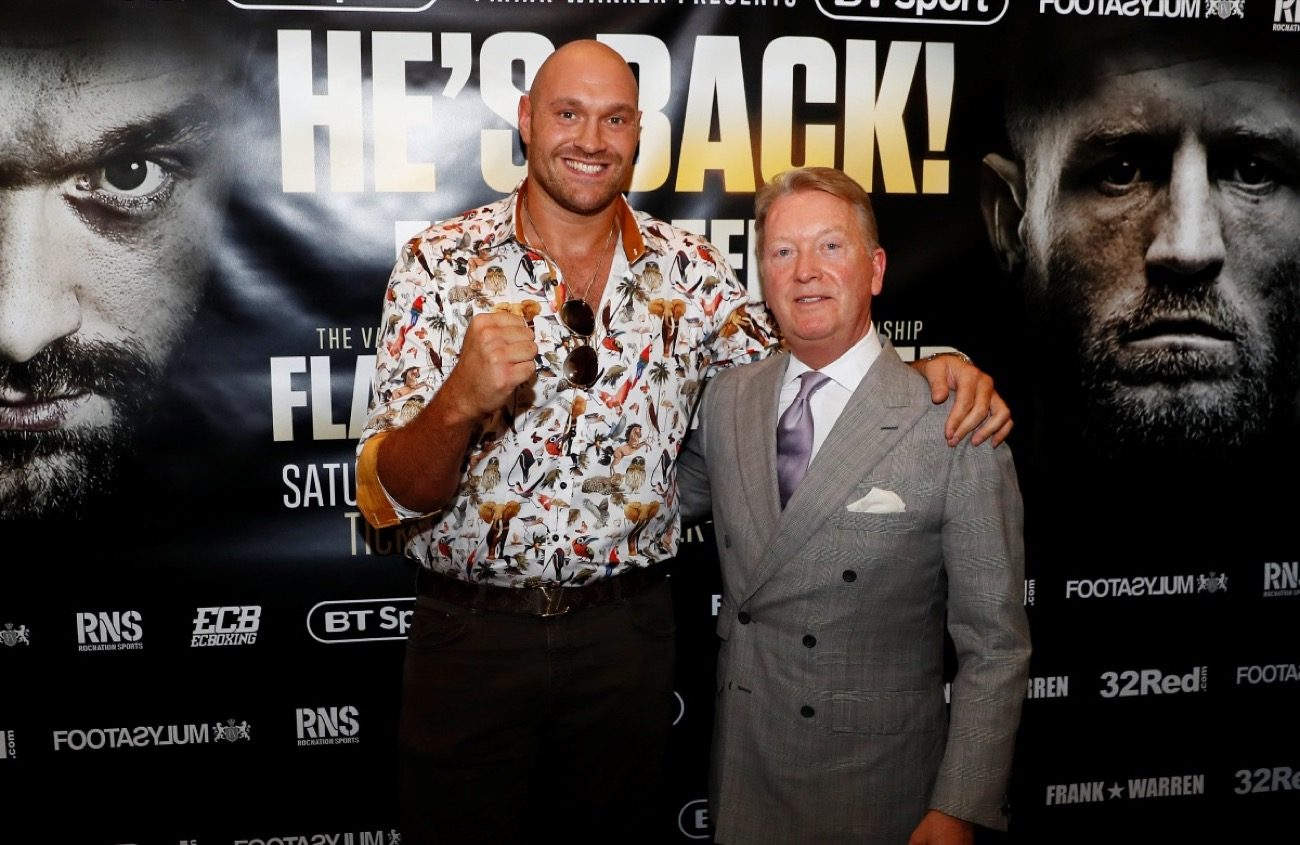 Tyson Fury Boxing News British Boxing