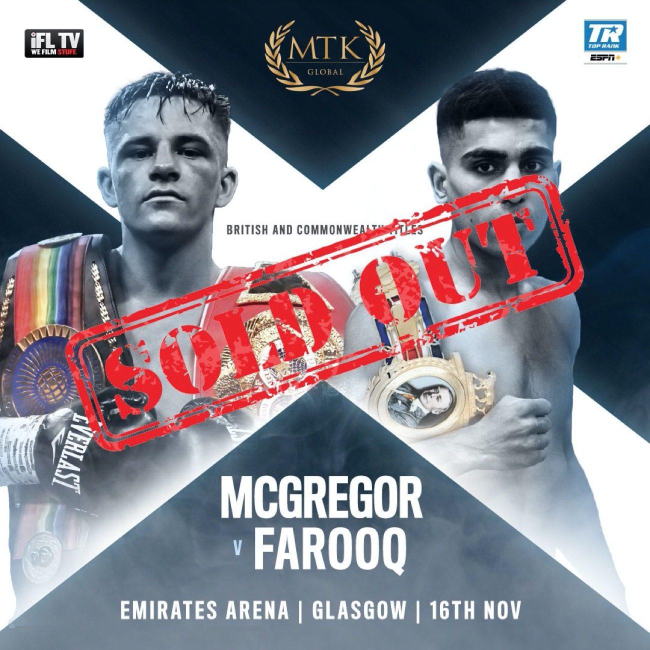 Kieran Smith Lee McGregor Paddy Donovan British Boxing Press Room