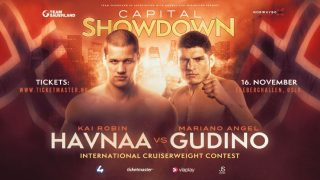 Kai Robin Havnaa - Kai Robin Havnaa (15-0, 13 KOs) has a new opponent set for his cruiserweight clash on Saturday night with Mariano Angel Gudino (13-3, 8 KOs) replacing Al Sands, who has withdrawn from their scheduled contest.