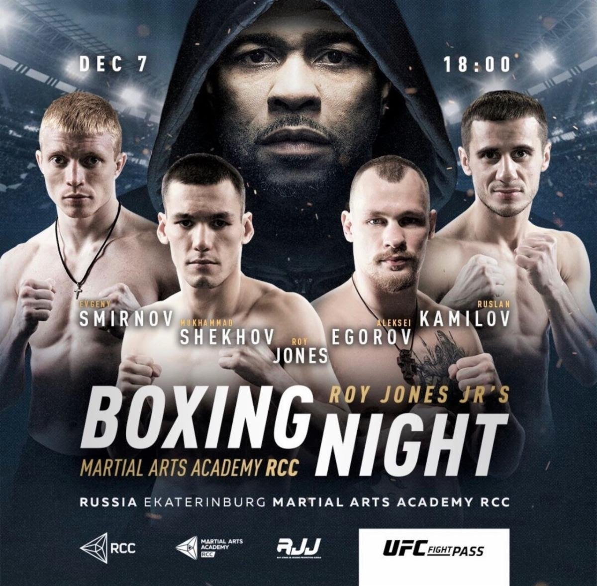 Alexey Egorov - First Event Streams Live and Exclusively on UFC FIGHT PASS® Saturday, December 7 at 11 a.m. ET / 8 a.m. PT