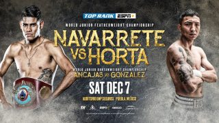 """Francisco Horta - Boxing's busiest world champion, WBO junior featherweight king Emanuel """"Vaquero"""" Navarrete, will make his fourth world title defense in less than seven months against Francisco """"Panchito"""" Horta Saturday, Dec. 7 at Auditorio GNP Seguros in Puebla, Mexico."""