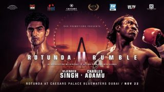 Charles Adamu - WBO No. 1 140-pound contender Jack Catterall and Indian super middleweight contender Vijender Singh will co-headline a special edition of #MTKFightNight Friday from Caesars Palace Bluewaters Dubai.