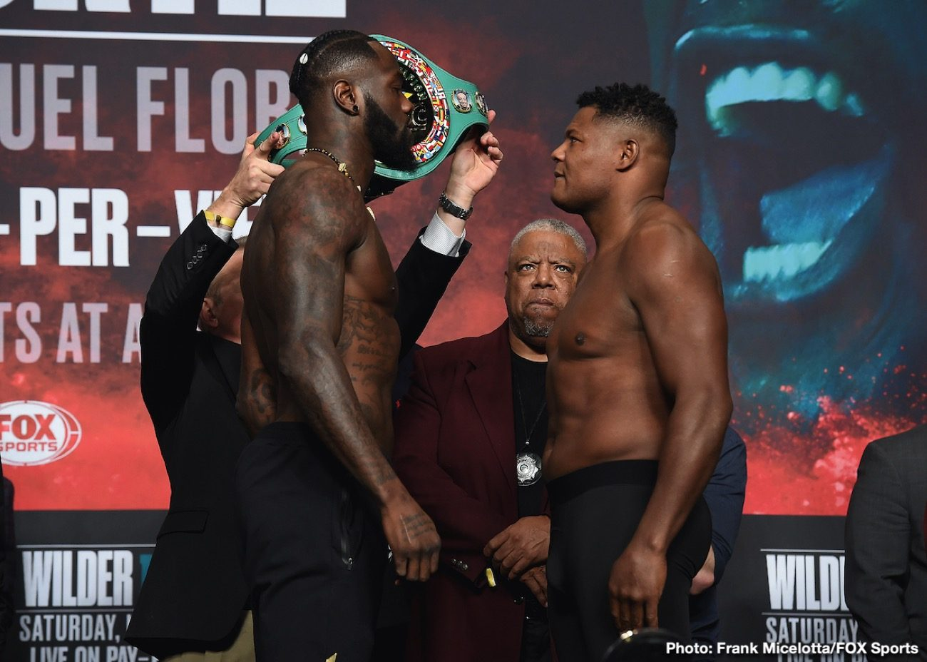 Deontay Wilder Fox Sports Pay-Per-View Luis Ortiz Boxing News Top Stories Boxing