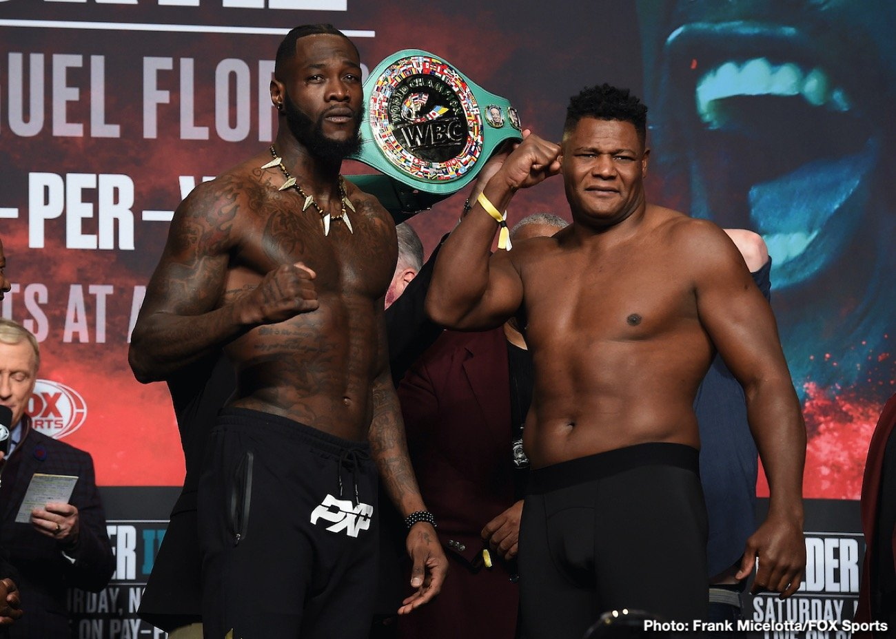 Luis 'King Kong' Ortiz came in at 236.5 lbs and looked in best shape in years for his title challenge against WBC heavyweight champion Deontay Wilder. Ortiz will have 17-lb weight advantage over Wilder (41-0-1, 40 KOs), who weighed in at 219.5 lbs.
