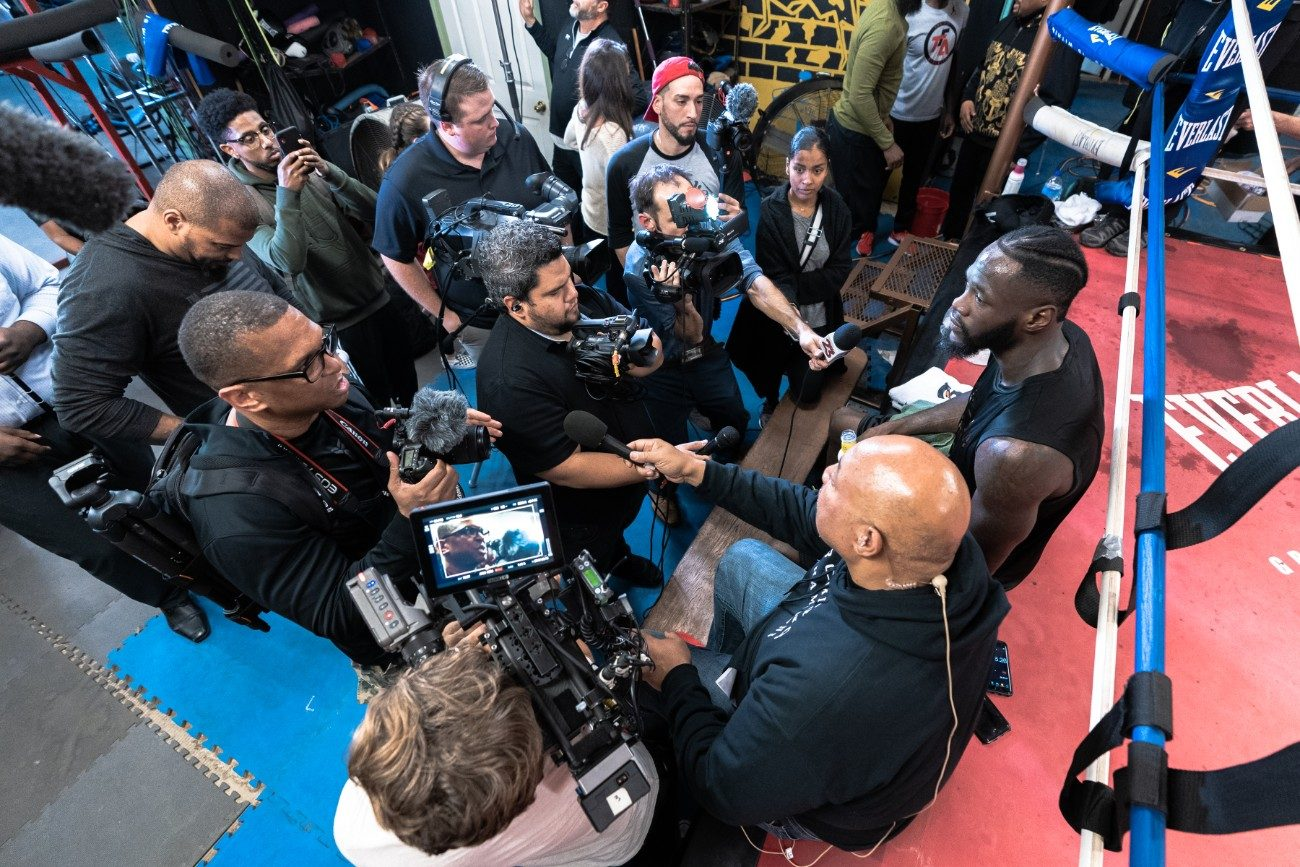 Deontay Wilder Luis Ortiz Boxing Interviews Boxing News