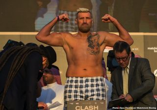 """Boxing Results - In some rare heavyweight action, fringe contender and long-time campaigner Mariusz Wach pounded out a ten-round UD over fellow veteran Kevin Johnson last night in Krakow, Poland. Wach, aged 40, the same as """"KingPin,"""" had to work hard and he said after the fight that he hurt, perhaps broke, his right hand in the seventh round."""