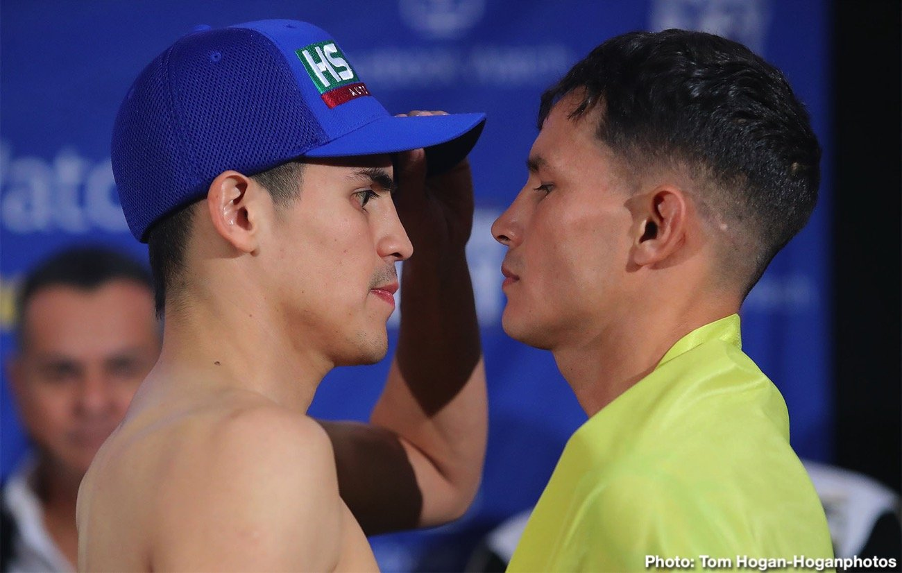 Diego De La Hoya - Diego De La Hoya (21-1, 10 KOs) and Renson Robles (16-6, 9 KOs) hosted their final press conference today at the Lobby Bar at Hotel Araiza ahead of their 10-round fight. The event will take place Saturday, Dec. 14 at The Auditorio del Estado in Mexicali, Mexico and will be streamed live on Facebook Watch via the Golden Boy Fight Night Page.