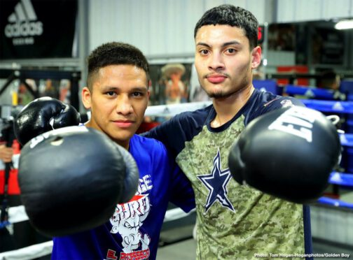 Brad Solomon, Vergil Ortiz - Joshua Franco (15-1-2, 7 KOs) and Hector Tanajara Jr. (18-0, 5 KOs) also participated in the workout as they prepare to return on the undercard of Munguia vs O'Sullivan on Jan. 11 at the Alamodome in San Antonio and also live on DAZN.