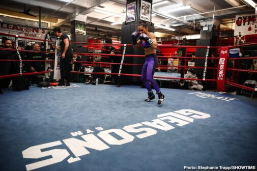 Chris Eubank, Dennis Hogan, Jermall Charlo, Matt Korobov - Fighters stepping into the ring this Saturday, December 7 showed off their skills at a media workout in Brooklyn Wednesday before they compete live on SHOWTIME from Barclays Center, the home of BROOKLYN BOXING™, in an event presented by Premier Boxing Champions.