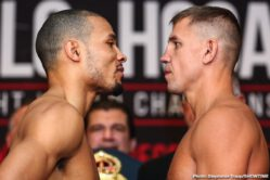 Chris Eubank Jr, Dennis Hogan, Jermall Charlo, Matt Korobov - SHOWTIME Sports will provide live streaming coverage of fight week events as undefeated WBC Middleweight World Champion Jermall Charlo defends his title against highly-ranked contender Dennis Hogan this Saturday, December 7, live on SHOWTIME from Barclays Center in Brooklyn.