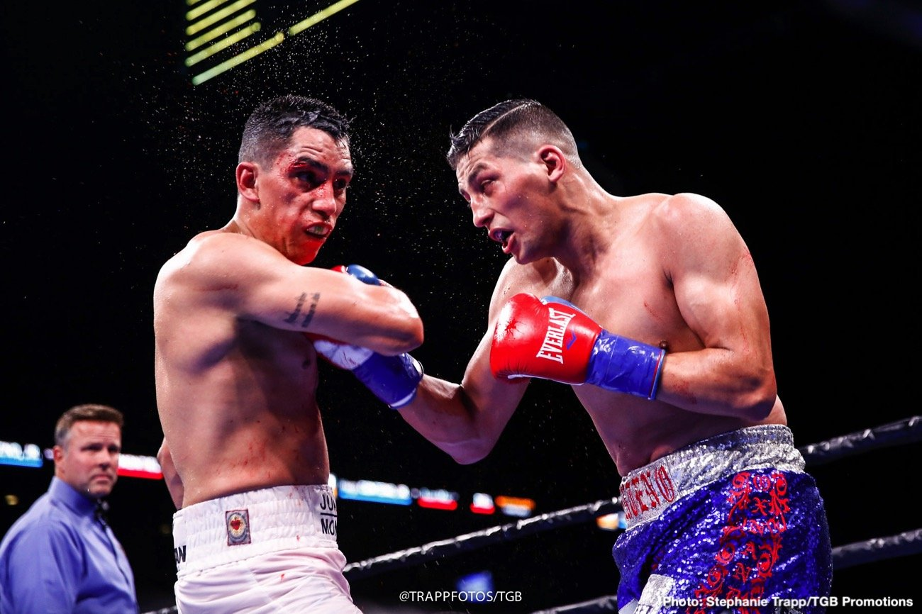 Mexican middleweight Juan Macias Montiel says he and fellow contender Hugo Centeno Jr., have unfinished business that can only be settled one way.